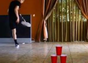Brilliant beer pong trickshots