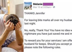 Angry Wife Sends Epic Letter To Her Cheating Husband's Mistress