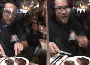 Restaurant Owner Prepares And Eats Deer In Front Of Vegan Protestors